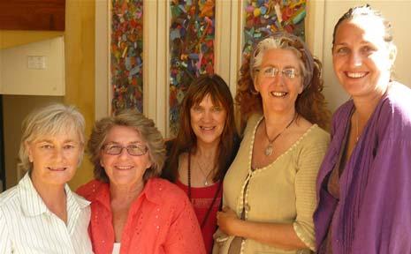 Organisers of the Byron Arts Classic are (from left) Jani Collins, Jan Dawkins, Helene Sheehan, Tess Cullen and Samaya Zakay.