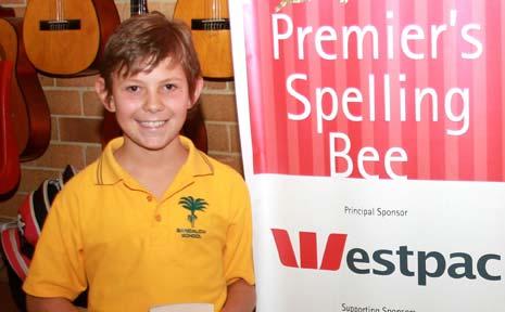 Bangalow Public School's spelling champion Michael Krippner.