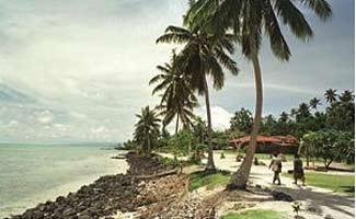 There are reports a child was lost in the tsunami when it hit Monona Island, pictured.
