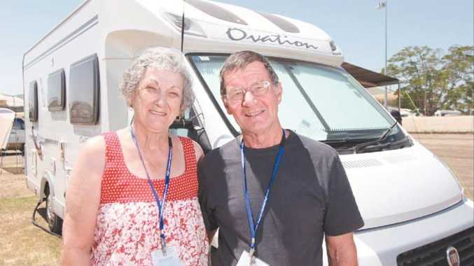 Margie and John Burke at Rockhampton Showgrounds for the national Campervan and Motorhome Club rally.