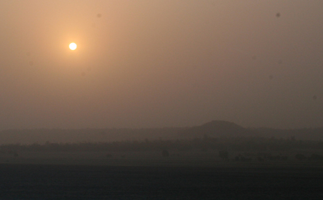 FROM DAY TO DARKNESS:The sun was hidden behind the second dust storm in four days at Taroom on Saturday evening.