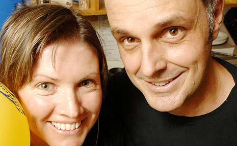 C'MON THE EELS: Sirocco Cafe owners Katie and Steve Gassner.