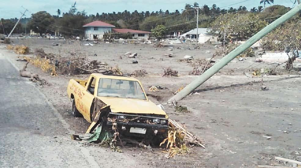 Former Rockhampton woman Maria Leota took this devastating photo yesterday in Samoa.