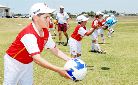 Dylan Carr, 11, works on his skills.