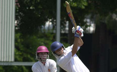 A file picture of Simon Milenko batting in a match in Lismore. Milenko has been picked as a bowling all-rounder for the Queensland Academy of Sport but it's as a batsman he is hoping to make his mark for the Gold Coast Dolphins in QCA first grade in Brisbane.