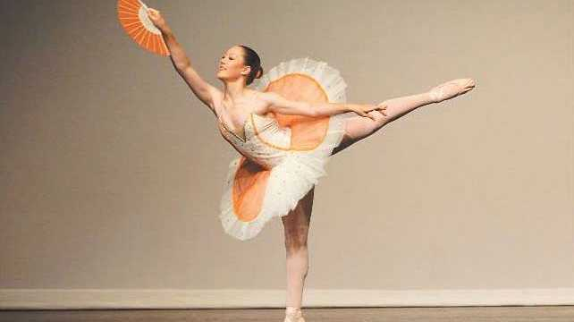 Jessice Lawton performs at the Pilbeam Theatre yesterday during the last day of the Dance Festival.