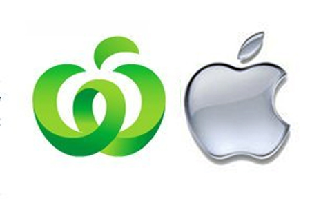 Too similar? Apple has launched legal action against supermarket chain Woolworths over similarities between their logos.