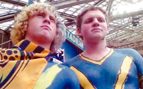 BRADLEY EARNSHAW and Jackson Wood at the NRL grand final.