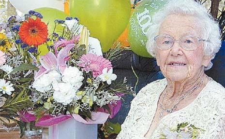 Hervey Bay's Nellie Porter celebrates her 100th birthday.