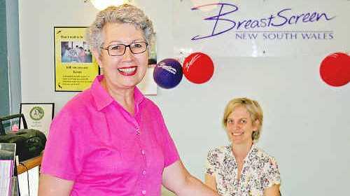 Mayor Jenny Dowell and Melissa Rahmate at BreastScreen North Coast in Lismore.
