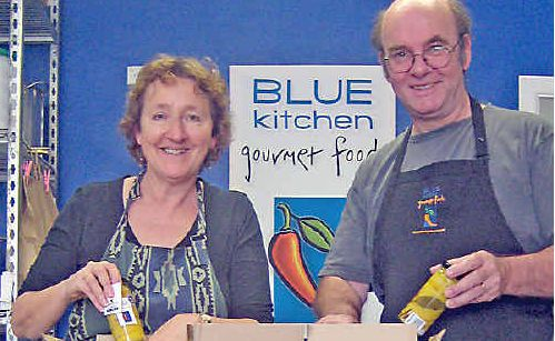 Louise and Andrew Nicholson from Blue Kitchen gourmet foods.