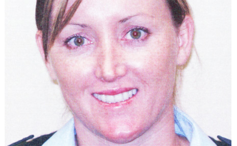 Constable Sarah Maxwell, who was injured in a traffic incident in Oxford Street in Sydney last Monday week.
