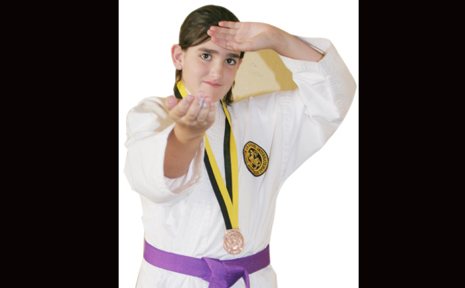 NEW KARATE KID: 11-year-old Biloela girl Mykala Brown won gold in the 11 years and under mixed Kata at the Australian championships recently.