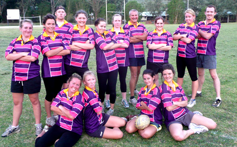 READY TO GO: The SCU women's rugby team for the Byron Bay Sevens this weekend.