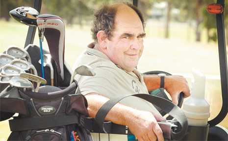 SITTING PRETTY: Paul Bray won the A-grade title in the 36-hole Maryborough Golf Club Veterans Championships.