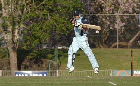 NSW Blues' Phillip Hughes in action here in Lismore last month. The Blues have made the semi-finals of the Champions League Twenty20 tournament in India.