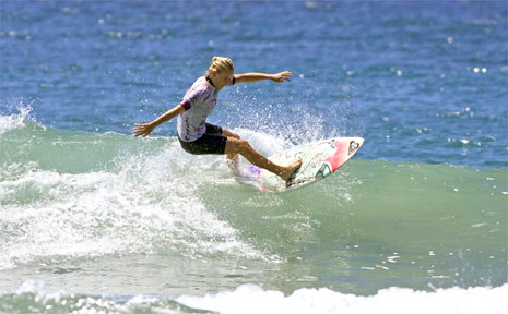 In what was a dominating performance, Byron Bay's Kirsten Ogden (pictured) was crowned 14 years girls Rip Curl Gromsearch champion at Coffs Harbour last Friday.