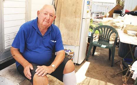 Doug Kelly, a long-term resident of the Lismore Tourist Caravan Park.