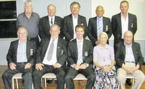 Football Far North Coast Referees Life Members (from back left) Barry Such, Alistair Watts, Ken Hudson, Dean Mohammed, Sandy Smart, Dick Nolan, Luke Mackney, Daphne Beaumont, and Joe Pisani (Absent: Clive Owen, Lee McMaster).