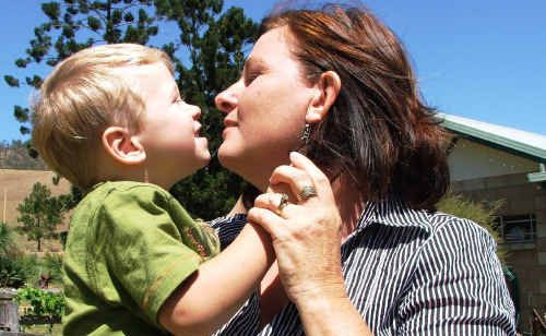 Little Rhys Ryan, with mum Leonie, is the face of a new campaign for the Westpac chopper.