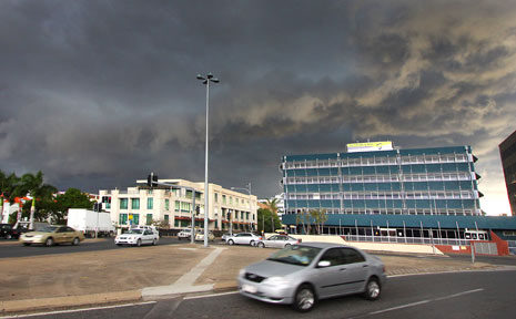 TEASING CLOUDS: Rockhampton is teased by a storm which swept over the city around 6pm yesterday.