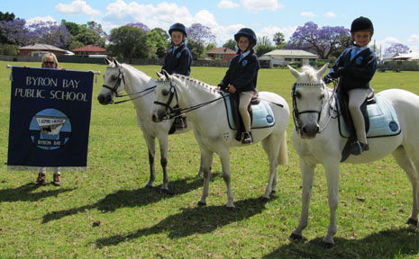 PICTURED (l to r) are Summer Chaseling riding Freya, Tia Goterson riding Aladdin, Belle Edwards riding Cassie.