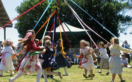 Coorabell schoolgirls danced around the maypole as part of Coorabell Hall centenary celebrations last Saturday.