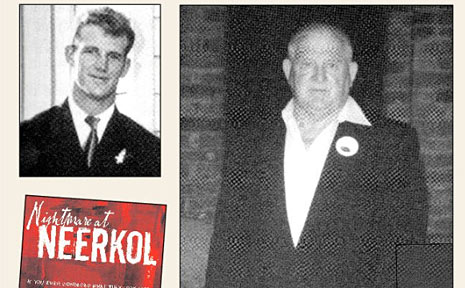 Garnett Williams as a 21-year-old, and later on a visit to Neerkol in 2002. In 2004 Garnett told his story in a book 'Nigthmare at Neerkol'.