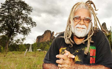 ROCK SOLID: Nimbin Rocks custodian Ces Roberts will play a big part in the Dreaming Festival.