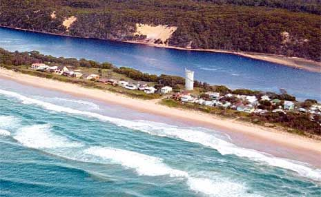 The coastal village of Wooli.