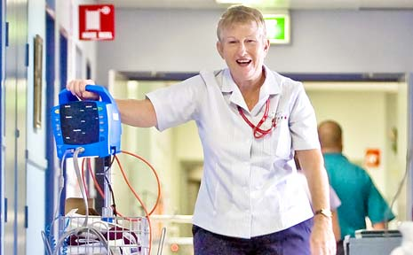 Nurse Ruth Turton, of Lismore Base Hospital, celebrates her 50th year in the profession this month.