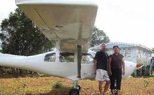 Howard and Margaret Boyle are just waiting on the radio and registration to be organised this week before their Jabiru takes to the air.