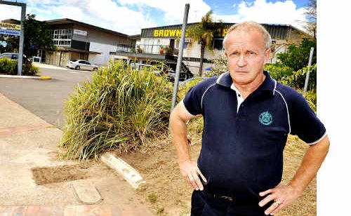 Barry Apps raised the alarm to the Sunshine Coast council over an alleged unmetered water supply in Mooloolaba.