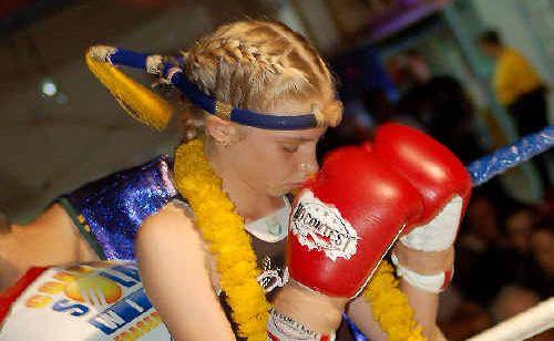Hervey Bay's Courtney Rainbow before her impressive Muay Thai bout with Josea McIvor.