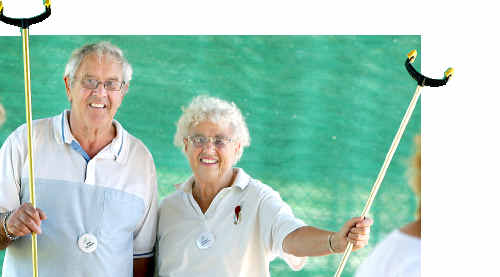 Ian Reiher is secretary of the Australian Shuffleboard Association and his sister Marj Govett is president.