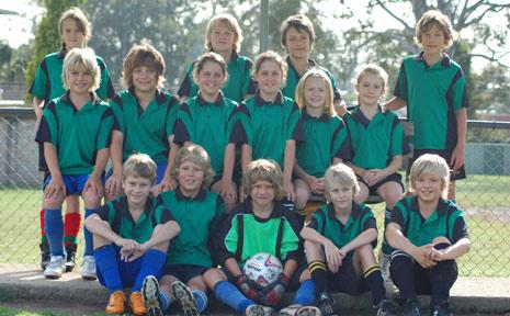 Coorabell Public School's soccer team.