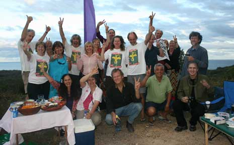 FORMER members of the action group at Paterson Hill on Saturday marking the 10th anniversary of the blockade.