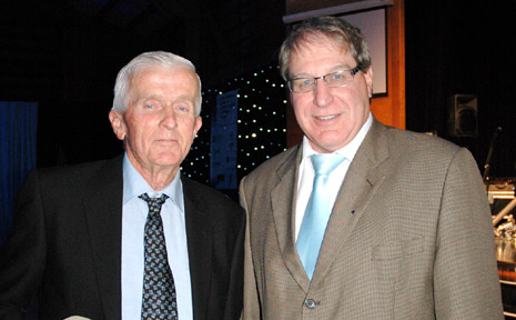 JOHN Emrick from Mulgowie Farms was the winner of the Business Person of the Year, accepting the award from Tony Axford.