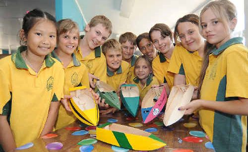 Thabeban State School seniors An Pham, Kiracy Groom, Tom Nowack, Sam Groom, Ty Ryan-Kinnest, Jakarni Appo, Shyla Appo, Emma Hurley, Amber Evans and Taylor Shield came first, second, third and fourth at the tech challenge in Maryborough.