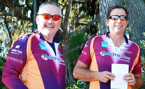 Two members of the Fraser Coast Bicycle Users Group, Rob Newman and president Peter Whitby, can't wait for the new pathway between Urraween Road and Boat Harbour Drive to be ready for use.