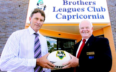 Stephen Parle and Geoff Murphy on the announcement that the Brothers Leagues Club will become the new home of the CQ NRL Bid.