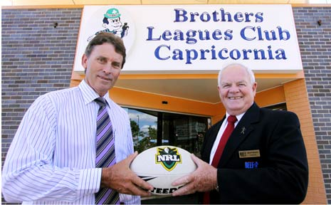 FOOTY CRUSADE: Stephen Parle and Geoff Murphy are teaming up as the CQ NRL Bid gains momentum. The bid team yesterday announced plans to take a controlling interest in Brothers Leagues Club.