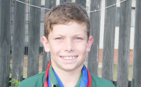 MEDAl TALLY: Jackson Lee won two gold and three silver medals at the State Primary School Athletics Championships.