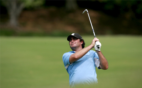 Steven Bowditch is tied for second at the Greenbrier Classic.
