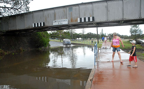 Residents awoke to flooding after torrential rain in Coffs Harbour.