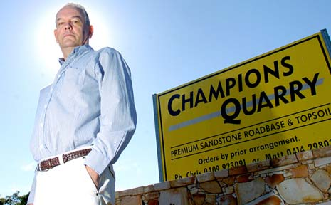 Former Lismore mayor and quarry owner Jeff Champion wants compensation from Lismore City Council for variations to a road upgrade.