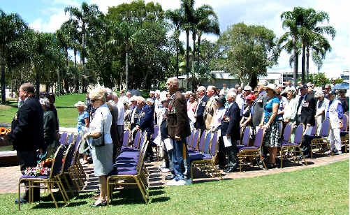 War veterans at the Tweed Heads and Coolangatta Service.