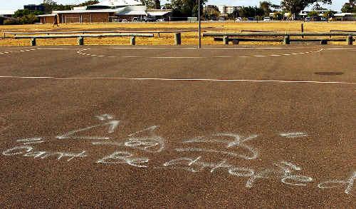 Graffiti splashed across the Hervey Bay PCYC has been removed.