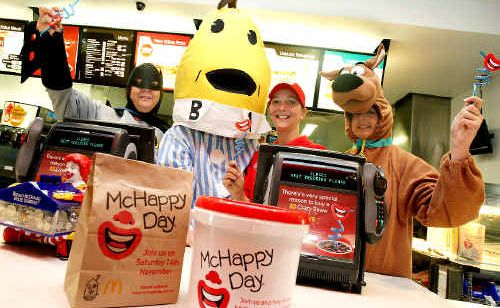 Colourful characters will be out in force to help celebrate this year's McHappy Day.