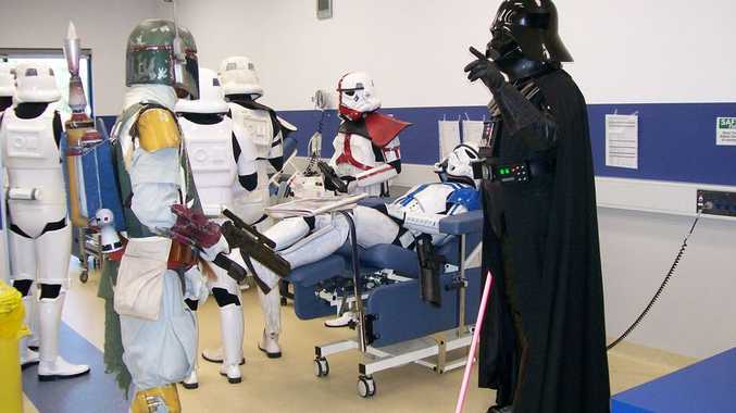 Members of the Fighting 501st Legion donated blood at the Robina Blood Donor Bank last weekend.
